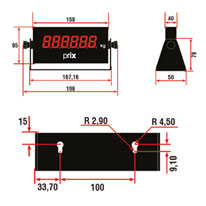 Display Remoto DR-200 - Medidas