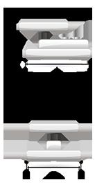 Módulo de pesagem compressão - TCL/LG Dimensões